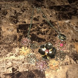 Macy's statement necklace with matching earrings